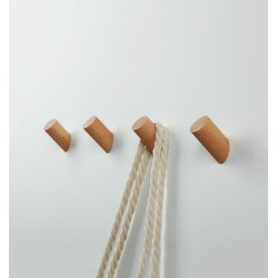 Set of 4 wooden clothes hooks, beech