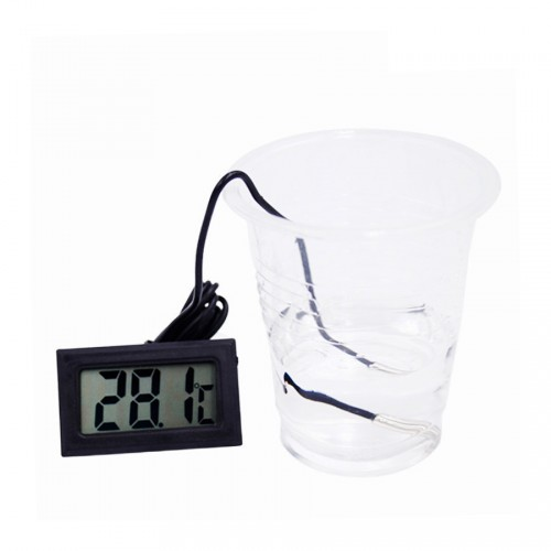 Black LCD thermometer with probe (for aquarium, etc.)