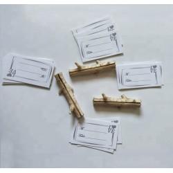 6x Baumzweig Kartenhalter