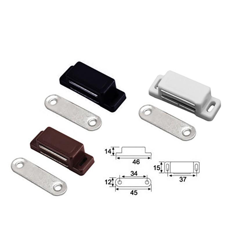 Setje van 8 magneetsnappers, magneetsloten, bruin