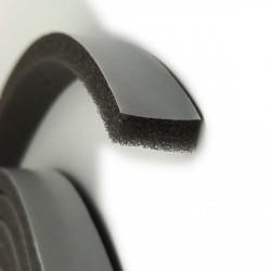 Tochtstrip foam, grijs/zwart 18 mm, 4 meter lang, op rol