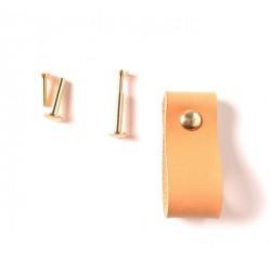 Ledergriff, Lederschlaufe, für Möbel, Farbe 4: rosa