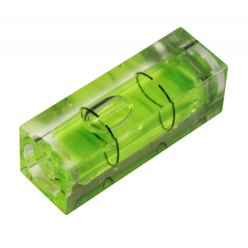 Vial for spirit level green rectangular