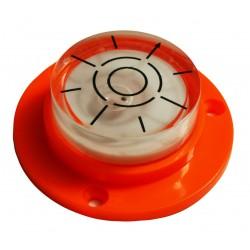Ronde waterpas met schroefgaten (oranje)