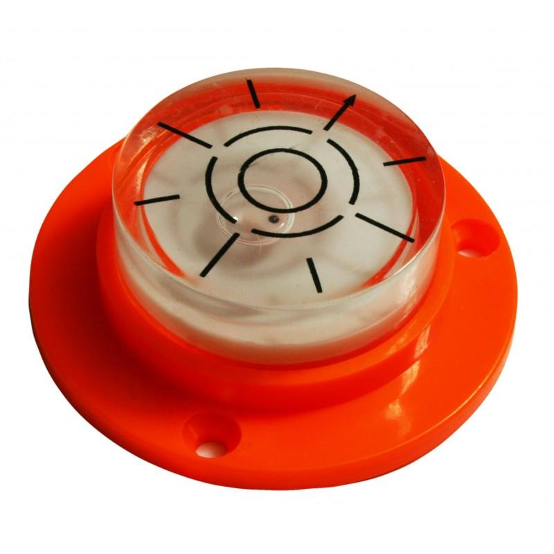 Runde Libelle mit Bohrungen (orange)