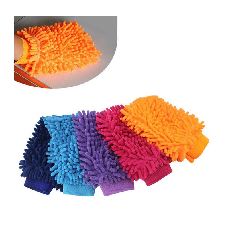 Set of 3 super cleaning gloves for washing car