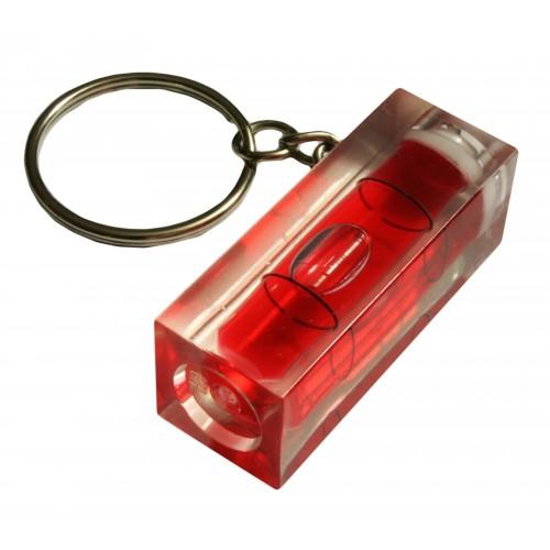 Schlüsselanhänger mit Wasserwaage (rot)