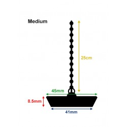 3 x rubber drain stopper, budget (45mm, medium)