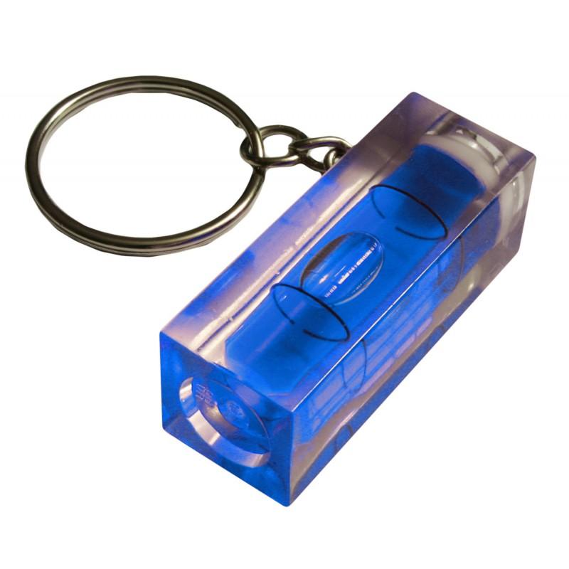 Schlüsselanhänger mit Wasserwaage (blau)