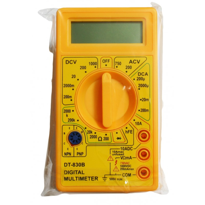 LCD digital multimeter yellow