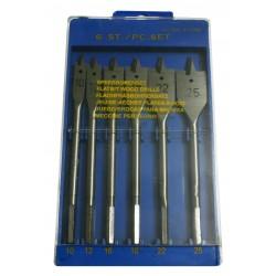Flatbit wood drills (6 pcs)