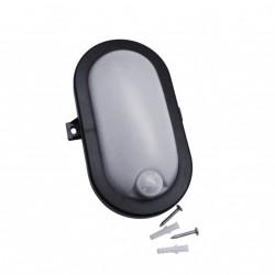 Bullseye lamp met sensor (220v), zwart, ook voor buiten