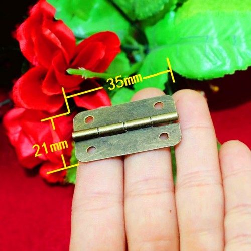 Set van 20 scharniertjes, antiek/klassiek, 21x35 mm