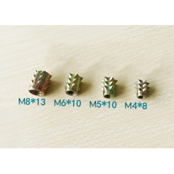 Set threaded inserts, M4 x 8 mm, 10 pcs