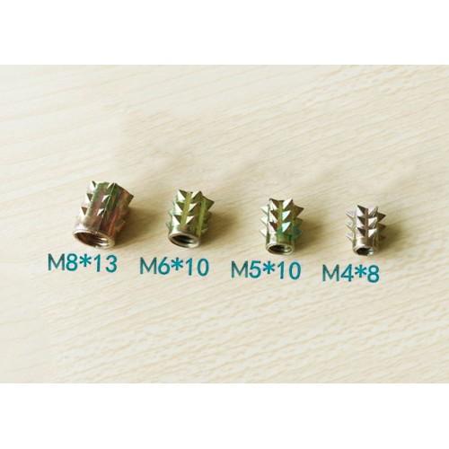 Set inslagmoeren M4 x 8 mm, 10 stuks