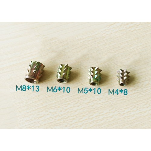 Set threaded inserts, M6 x 10 mm, 10 pcs