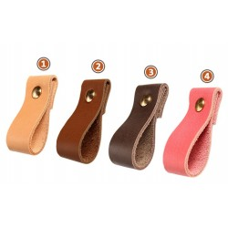 Leather handle for furniture, color 1: light brown