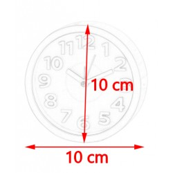 Funny, small clock with alarm (only 10 cm high): white