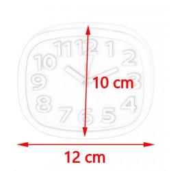 Vrolijke, kleine klok met alarm, 10cm hoog, rood