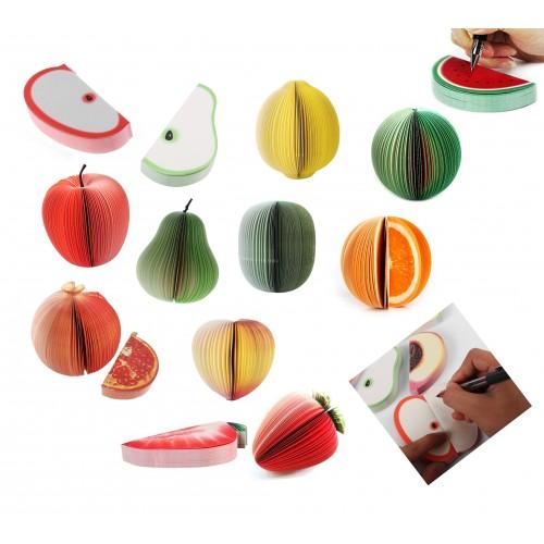 Lustige Notizblöcke, Fruchtnotizblöcke (9 sets)