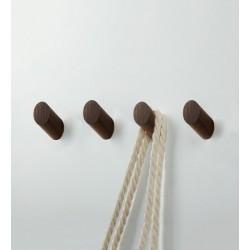 4 Kleiderhaken aus Holz (Garderobe), Nussbaum