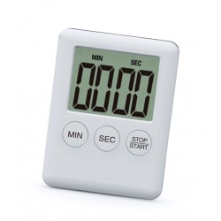 Digital timer, alarm, white