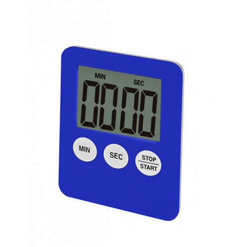 Digital timer, alarm, blue