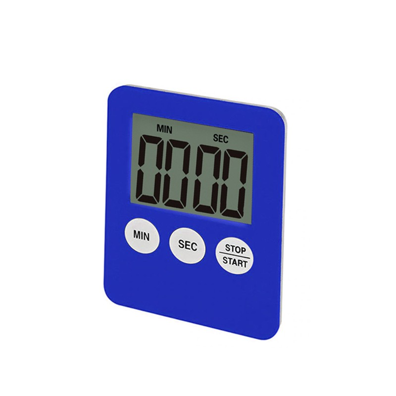 Digitale timer, kookwekker, alarmklok blauw