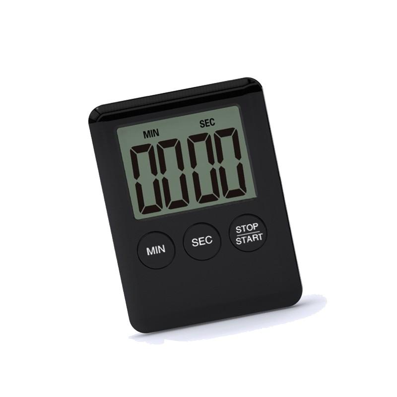 Digitale timer, kookwekker, alarmklok zwart