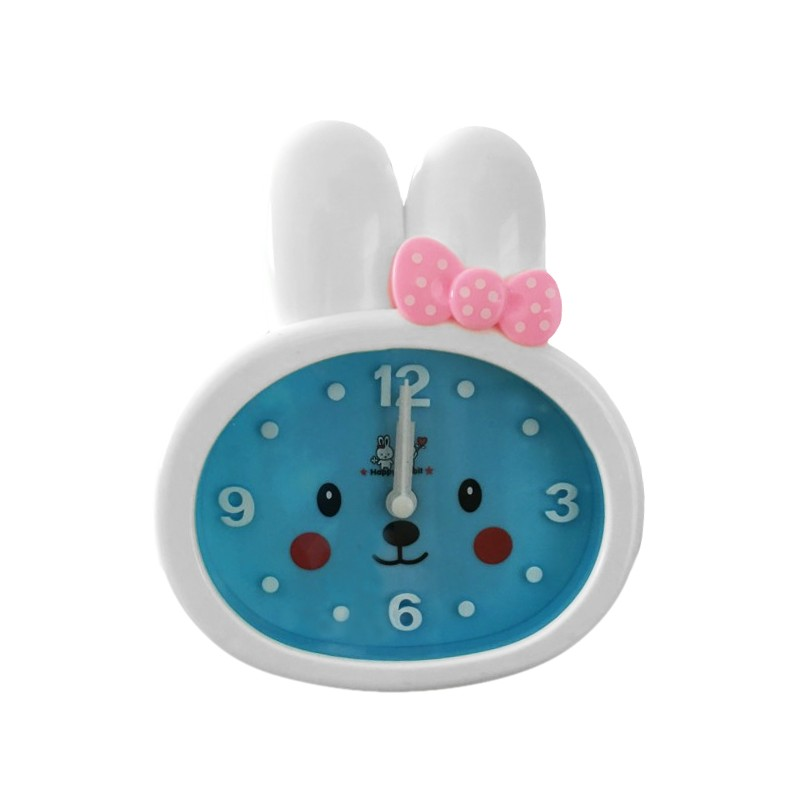 Grappige kinderklok, konijn (wekker), blauw/wit, nr 3