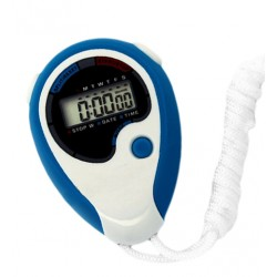 Digitale stopwatch (blauw/wit, ABS plastic)