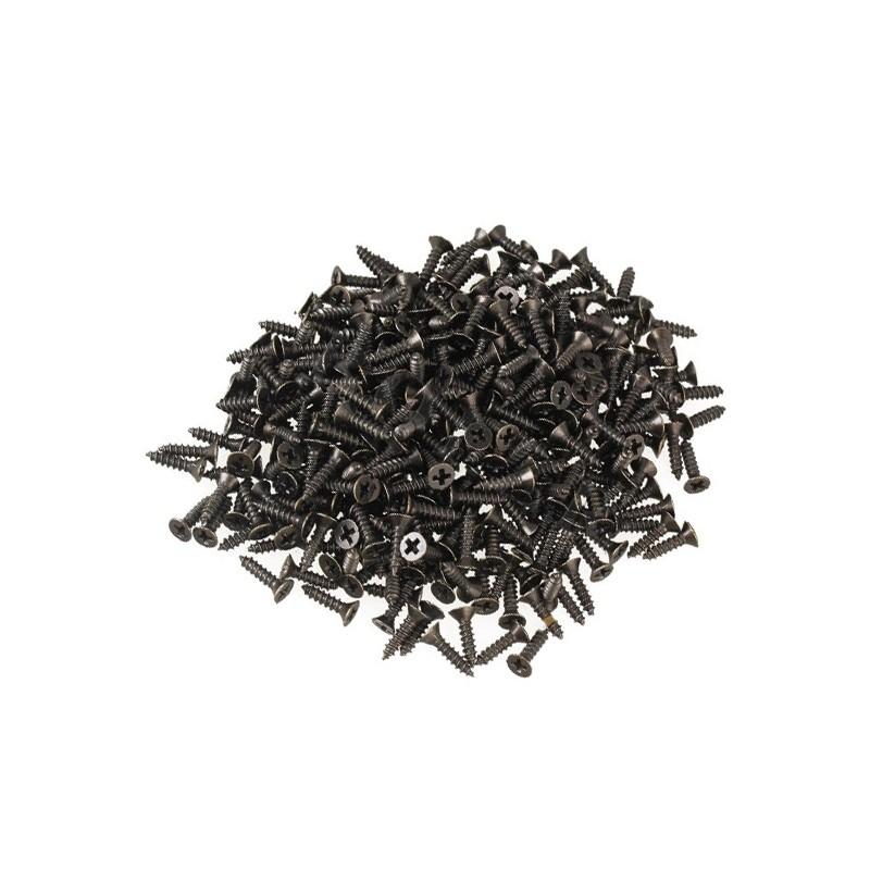 100 mini schroefjes (2.5x8 mm, verzonken, bronskleur)