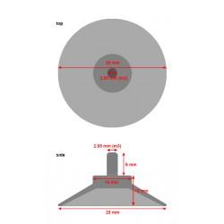 Set zuignappen met M3 schroefdraad (25 mm, 20 stuks)