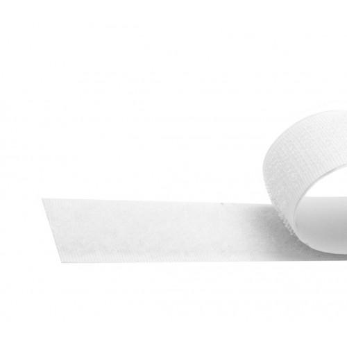 5 meter wit klittenband zelfklevend, 19 mm
