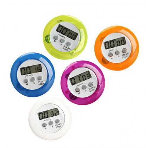 Set of 5 digital kitchen timers, alarm clocks, 5 colors