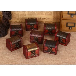 10 pieces vintage wooden boxes