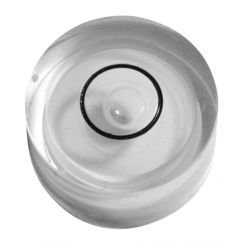 Mini round bubble level white, size 2