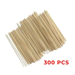 Set of 300 wooden skewers, 25cm