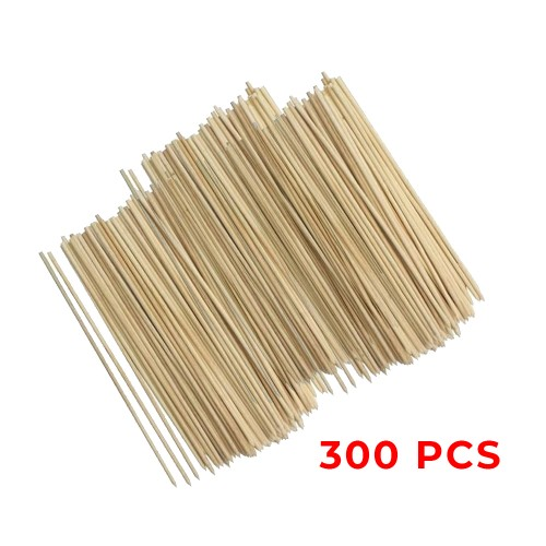 Set of 300 wooden skewers, 25cm