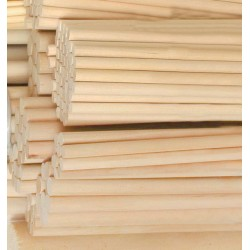 100 stuks houten stokken (9.5x200 mm, berkenhout)
