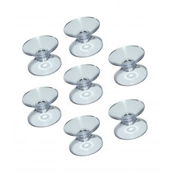 Set of 100 rubber suction cups double sided (20 mm)