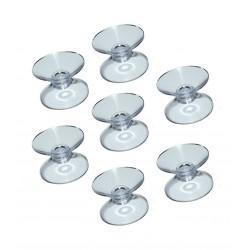 Set van 100 rubberen zuignappen dubbelzijdig (20 mm)
