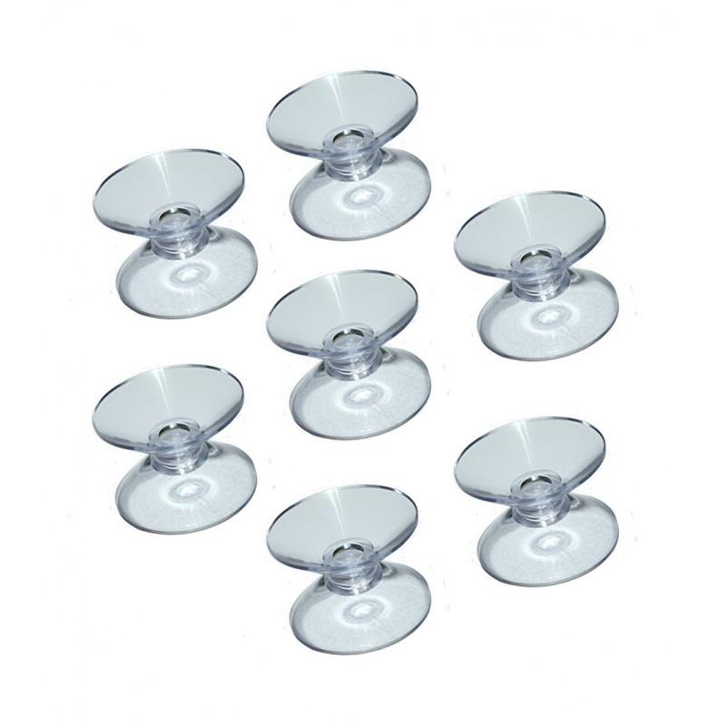 Transparenter Gummisaugers (40 stuck) doppelt (20mm)