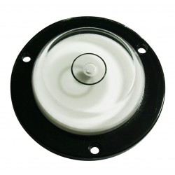 Round level with screw holes white