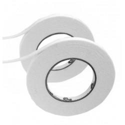 1 rol foam tochtstrip zelfklevend, wit, 9mm breed