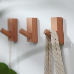 Wooden clothes hooks (4 pcs) for childrens rooms and schools