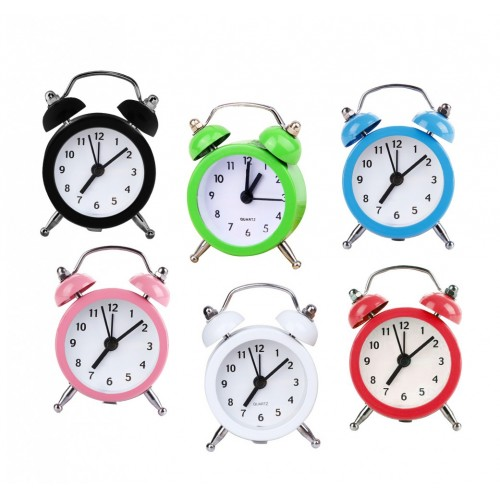 Funny little alarm clock, white (on battery, 8x2x6cm)