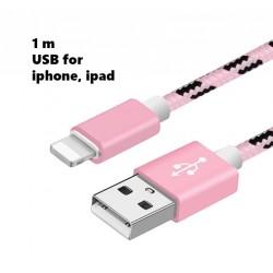 Lightning USB Kabel iPhone, 100 cm, für Damen: pink