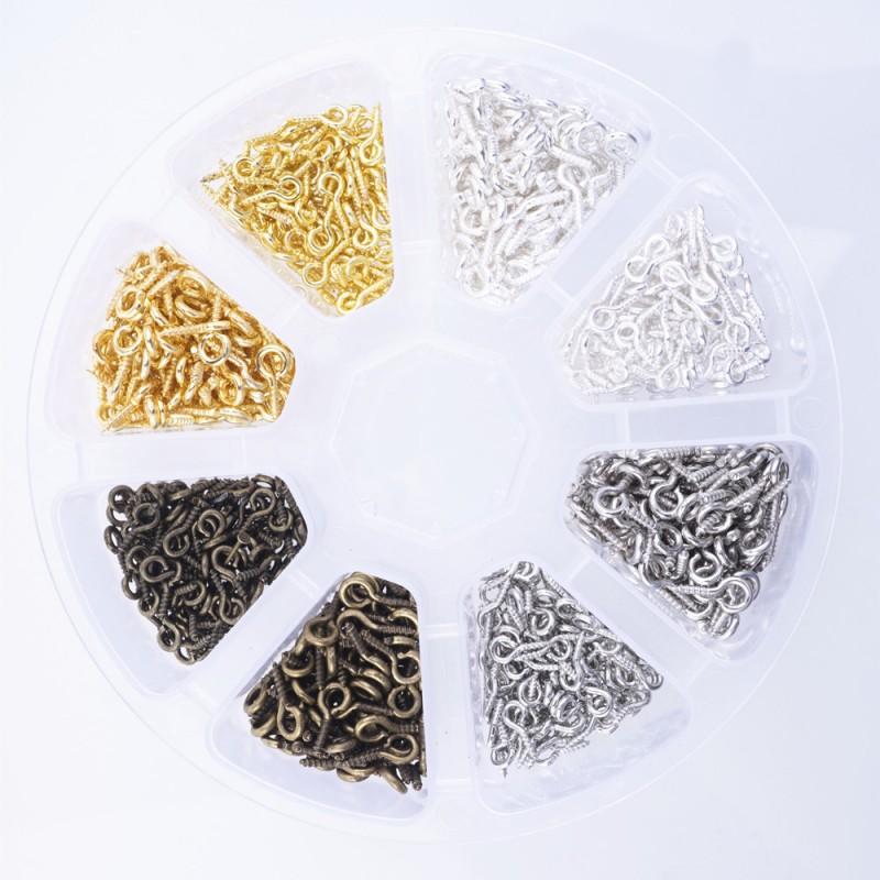 Set mini schroefoogjes met schroefdraad (800 stuks)