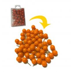 Punaises met bolle kop in doosje, oranje, 250 stuks